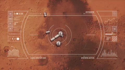 Mars Base from Orbit Animation