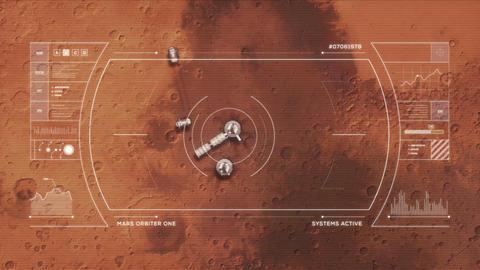 Mars Base from Orbit Animation