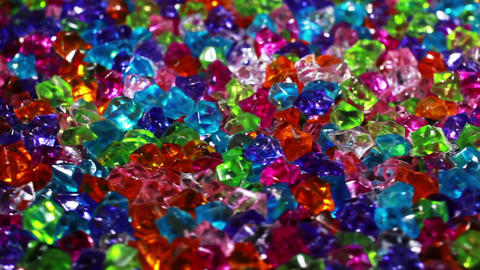 Rotating color changing crystals GIF