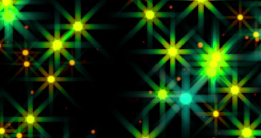 Green Glow Stars Flowing Loop Background Animation