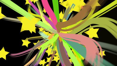 paint stroke and star burst CG動画素材
