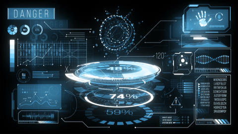 Futuristic Displays Data HUD 1