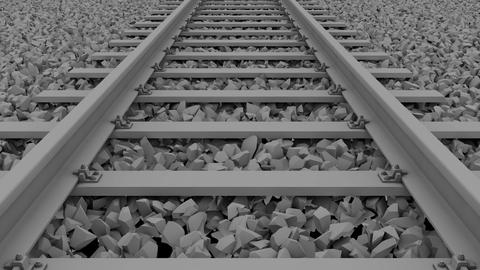 railway track loop_white Animation