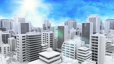 cityscape _ blue sky CG動画素材