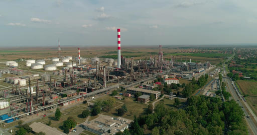 Oil Refinery - Aerials 0