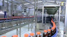 The production process of beverages in the factory Footage
