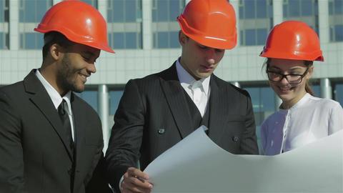 Three confident engineer Live Action