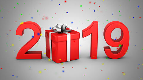 New Year 2019 CG動画素材