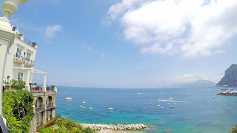 Panoramic view of world famous Capri shoreline Live Action