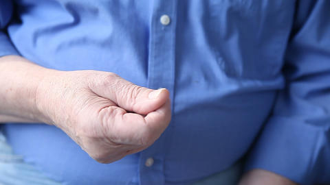 Man makes money gesture Footage