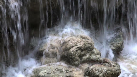 Fragment of Kuang Si waterfall Footage