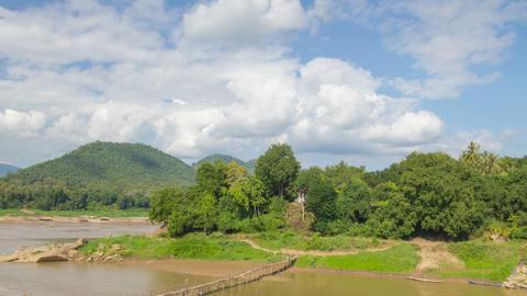 Mekong river landscape timelapse Footage