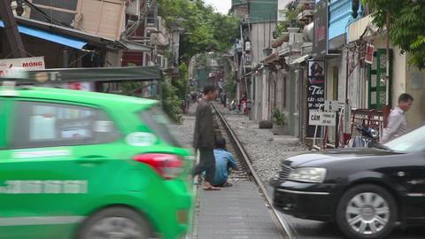 Ha Noi city traffic, Vietnam Footage