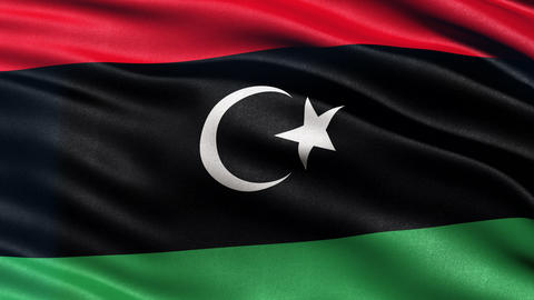 4K Libya flag seamless loop Animation