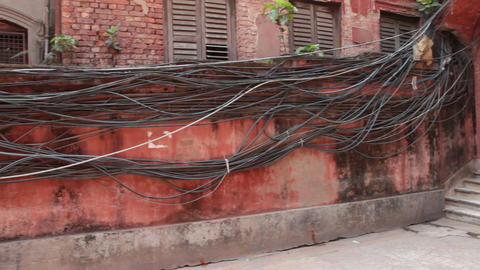 Electrical Power cables Footage
