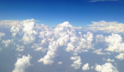 Cloud movement From inside the plane Footage