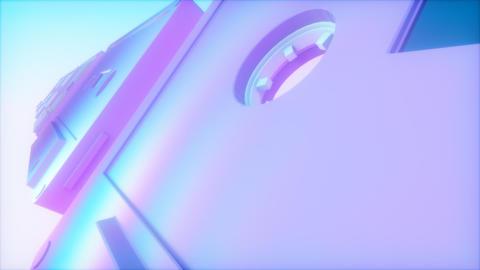 Vaporwave Style Audio Cassettes Animation