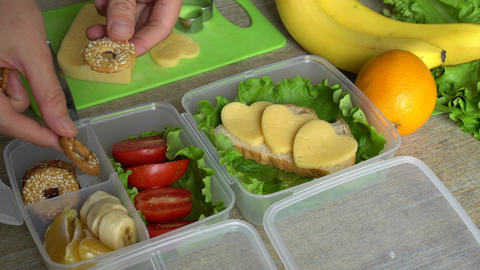 Homemade Lunchbox With Different Products Live Action