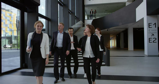 Business team walking together Footage