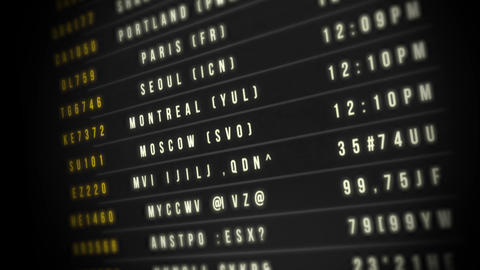 Airport Departure Board Animation