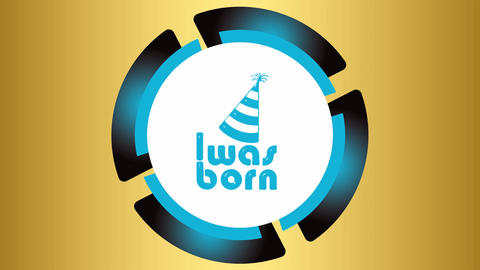 Was born blue icon on golden Animation