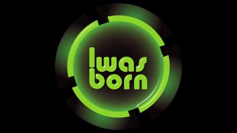 Was born green icon on black Animation