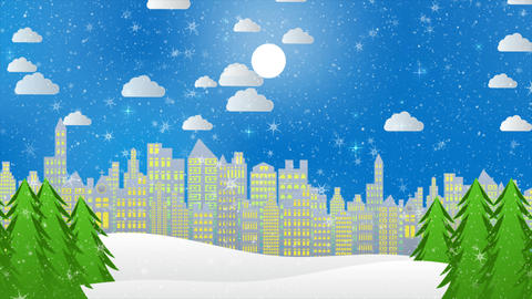 Christmas Motion Background 003 CG動画素材
