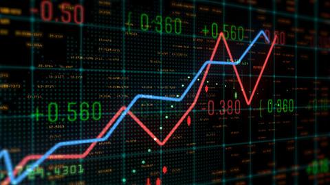Stock chart exchange animation background 0095 CG動画素材