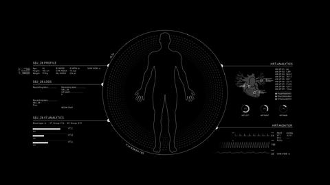 Human Medical HUD Animation 4K Animation