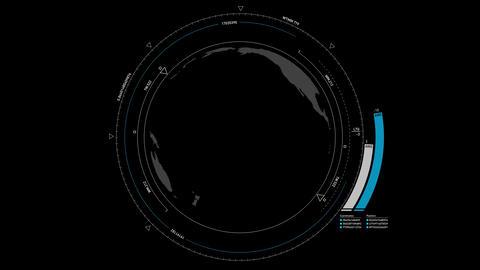 Globe HUD Animation 4K Stock Video Footage