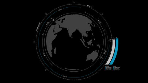 Globe HUD Animation 4K Animation