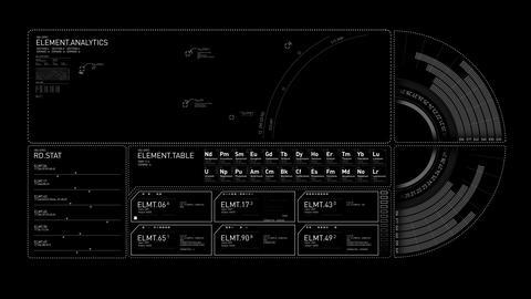 Generic Graph HUD Animation 4K Animation