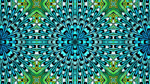 Blue Mandala Flouer Kaleidoscopic loop animation Animation
