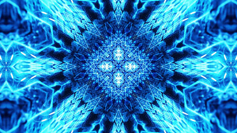 Blue Psychedelic Pattern Kaleidoscopic loop animation Animation