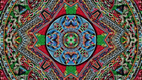 Large Buddhist Mandala Kaleidoscopic loop animation Animation