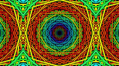 Psychedelic Kaleidoscopic loop animation Animation