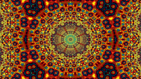 Psychedelic Pattern Kaleidoscopic loop animation Animation