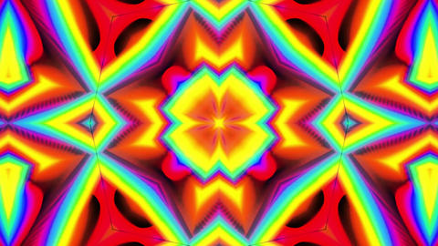 Psychedelic Rainbow Kaleidoscopic loop animation Animation