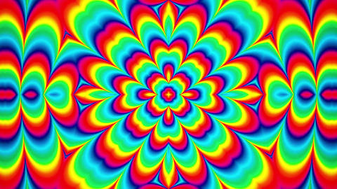 Psychedelic Rainbow Pattern Kaleidoscopic loop animation Animation