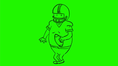 American Football Player Dancing Drawing 2D Animation Animation