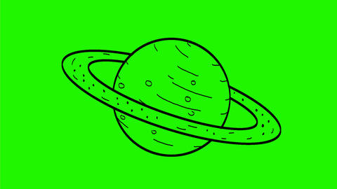 Planet Saturn Drawing 2D Animation Animation