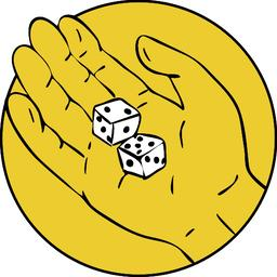 Hand Rolling The Dice Drawing Vector