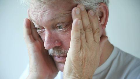 Man has cold or flu symptoms Live Action