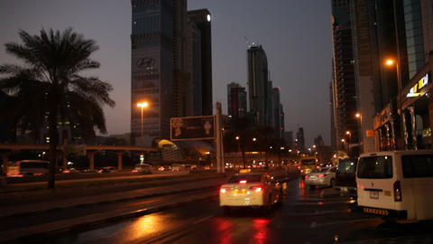 City Night Traffic Footage