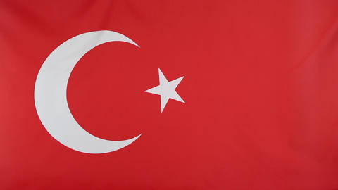 National flag of Turkey Footage