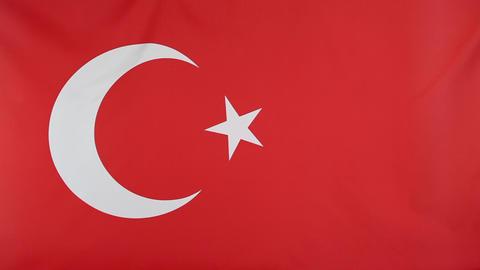 National flag of Turkey Footage