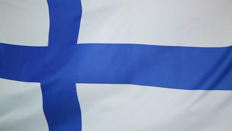 National flag of Finland Footage