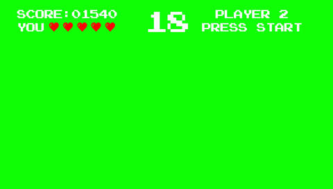 Old Video Game Arcade Interface on a Green Screen Footage