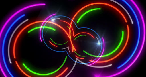 Neon lights 3D fly animation Animation