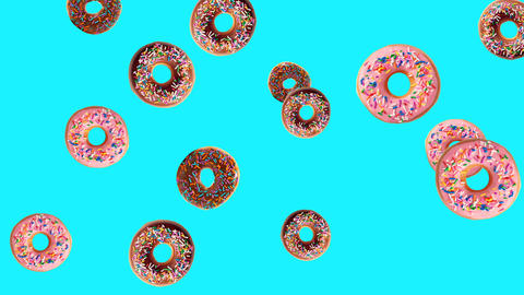 Pink donuts background Animation